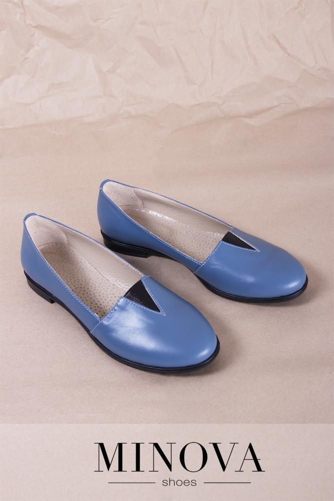 Туфли №1791М-джинс кожа