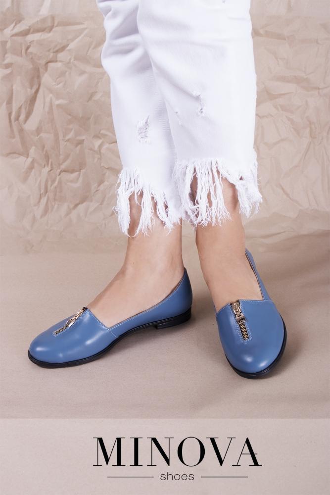 Туфли №1721М-джинс кожа