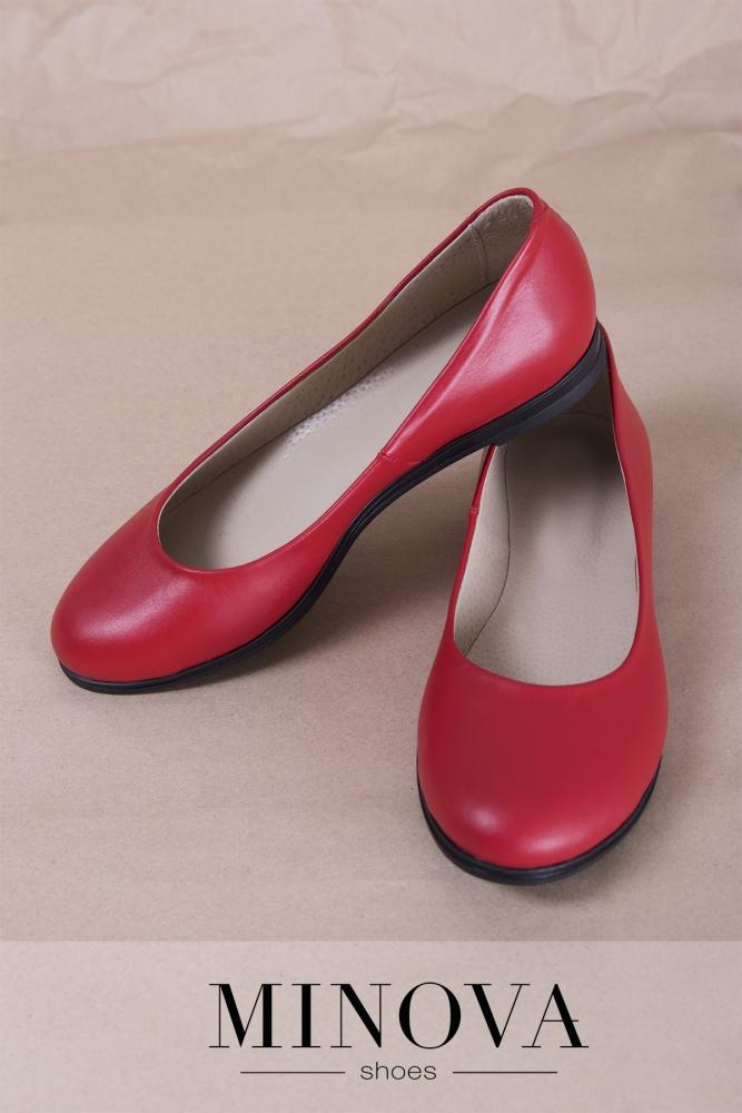 Туфли №171М-красная кожа