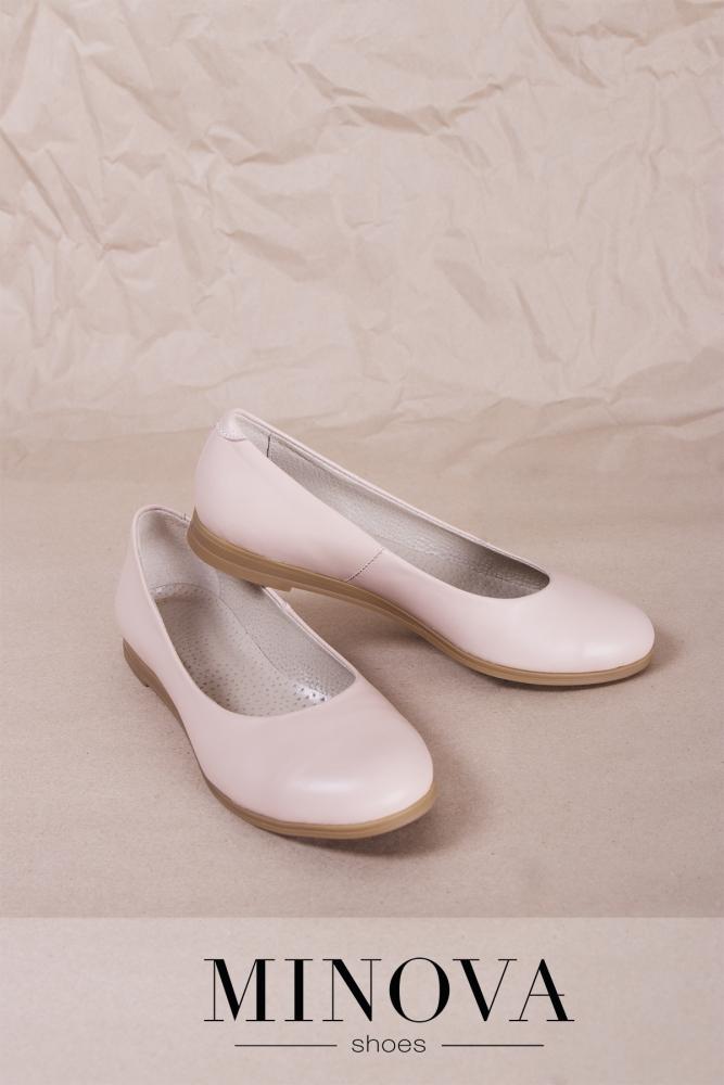 Туфли №171М-пудра кожа