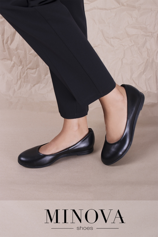 Туфли №171М-черная кожа