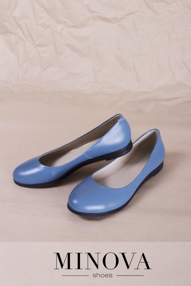 Туфли №171М-джинс кожа