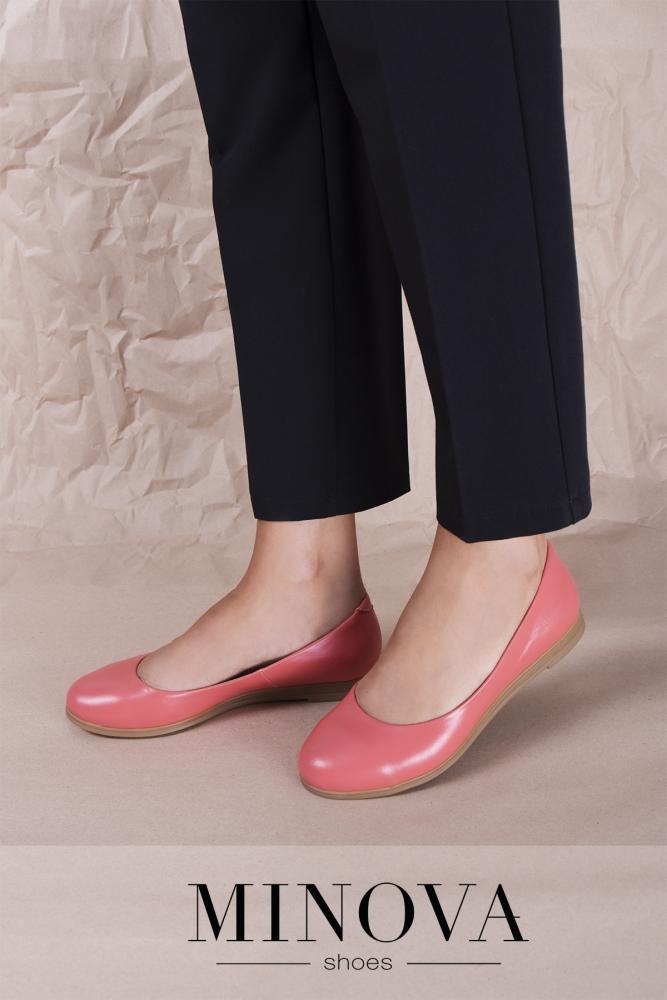 Туфли №171М-коралл кожа