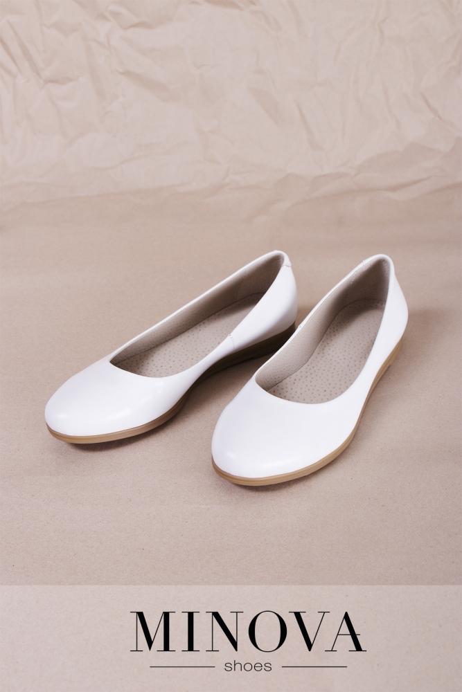 Туфли №171М-белая кожа