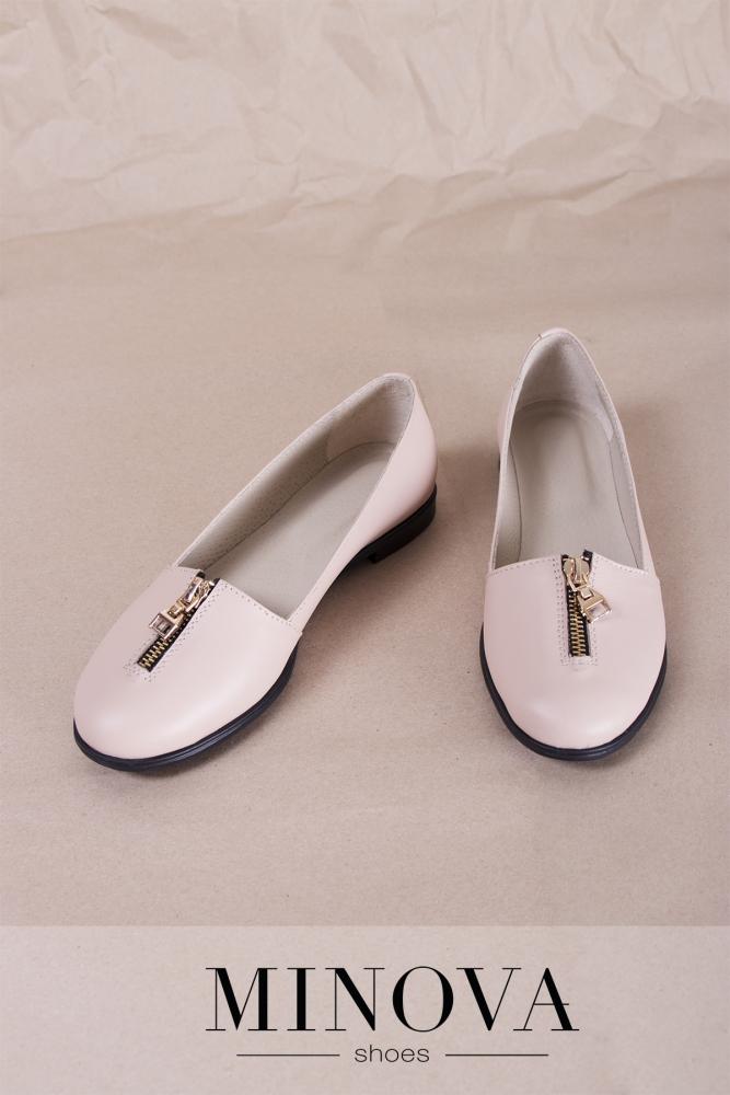 Туфли №1721М-пудра кожа