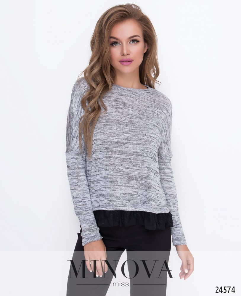 Джемпер №209-серый