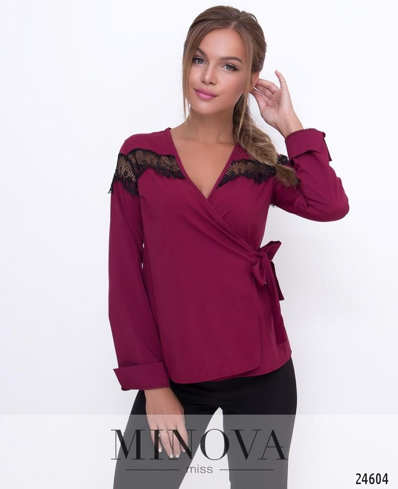 Блуза №1107-марсала