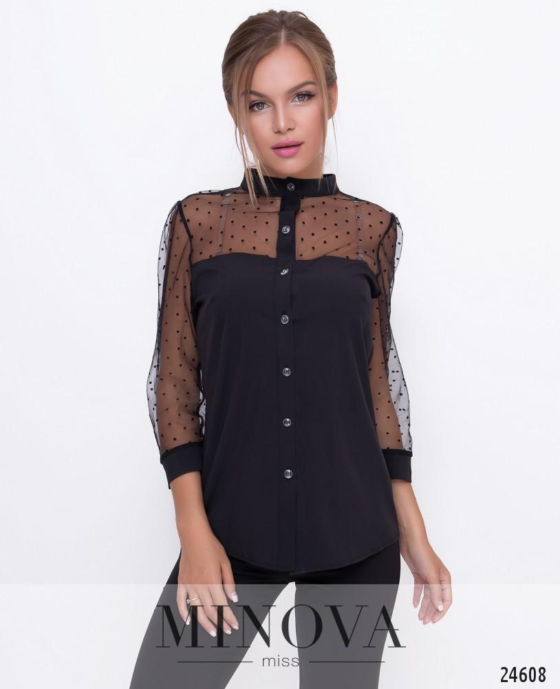 Блуза №1095-черный