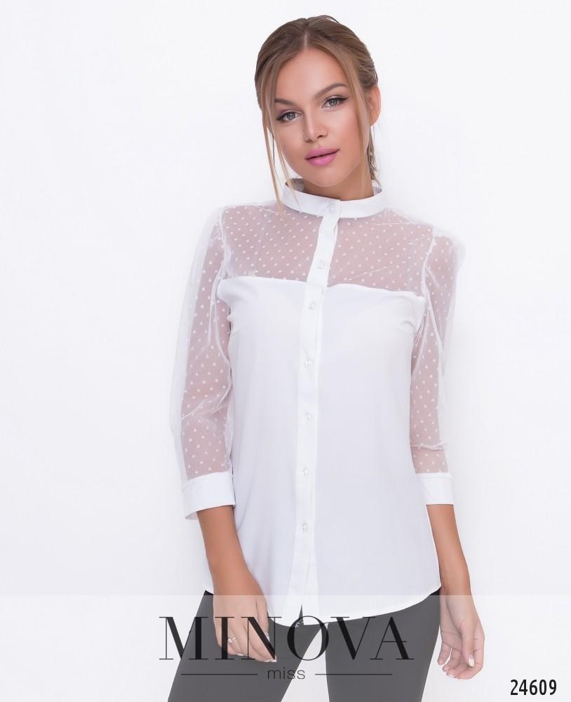 Блуза №1095-белый