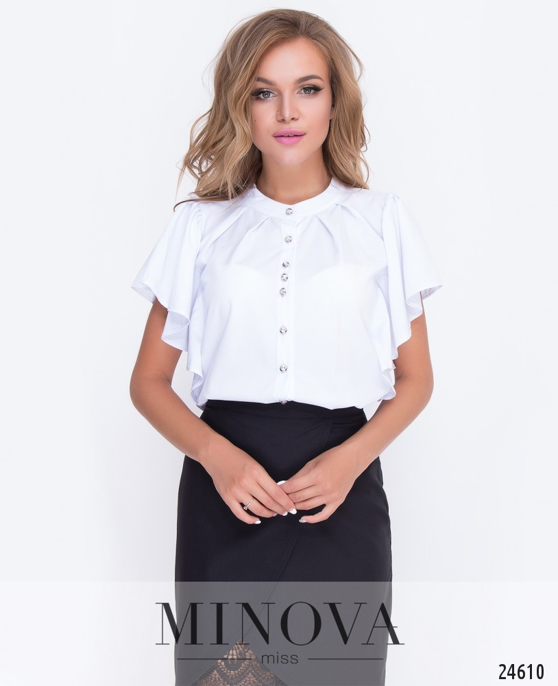 Блуза №451-белый