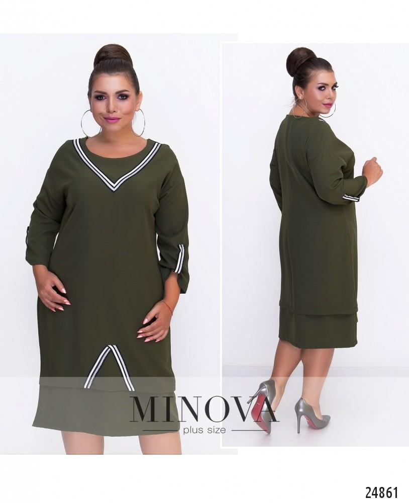 Платье №570-хаки (sale)