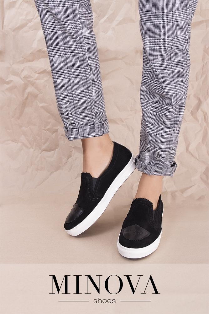 Туфли №330-черный замш