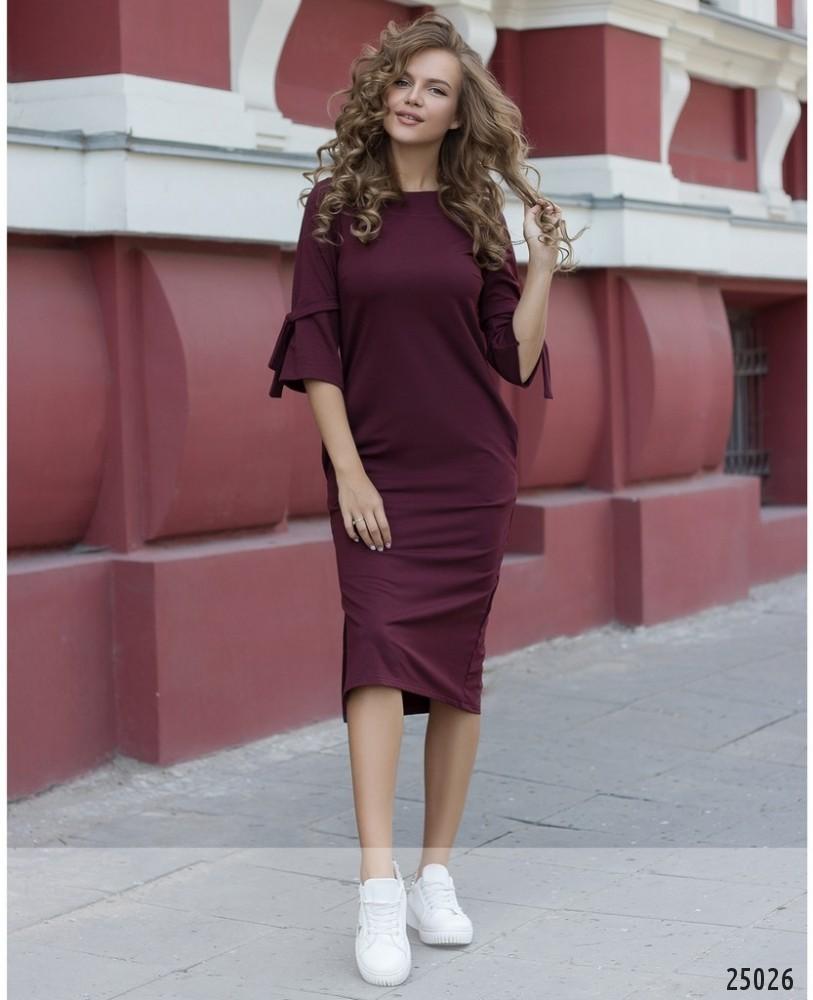 Платье №066-бордо