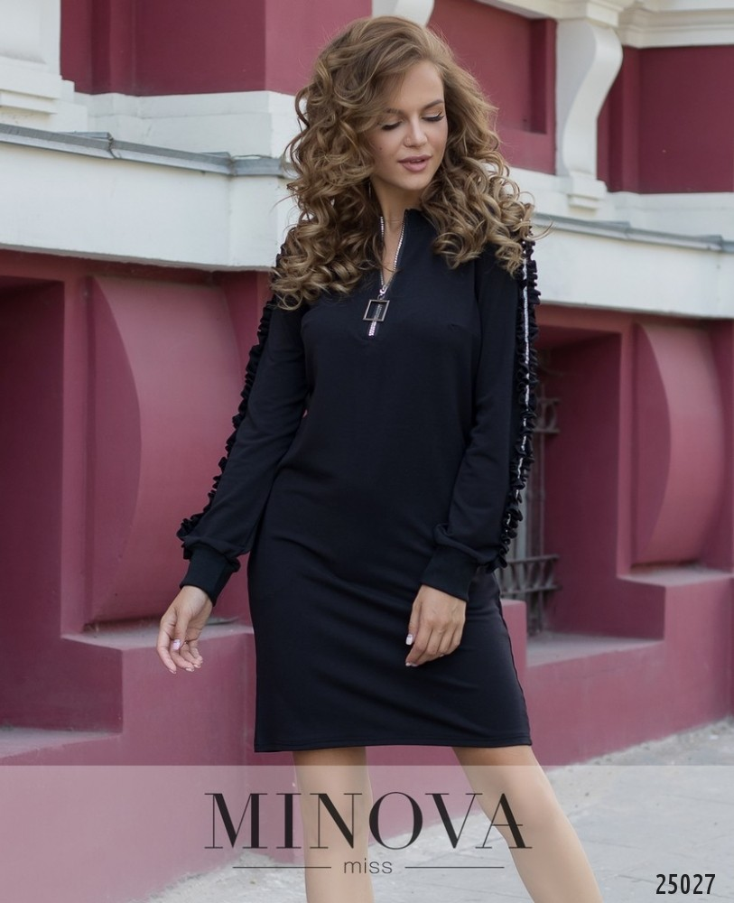 Платье №065-черный