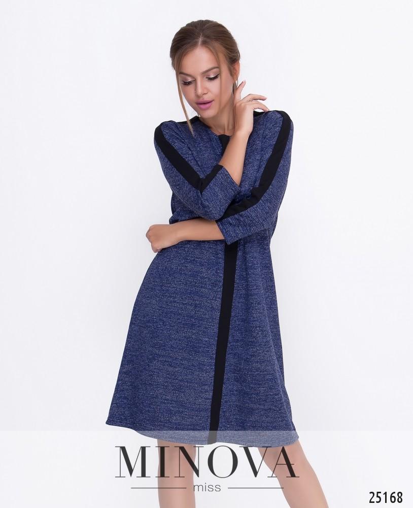 Платье №458-синий