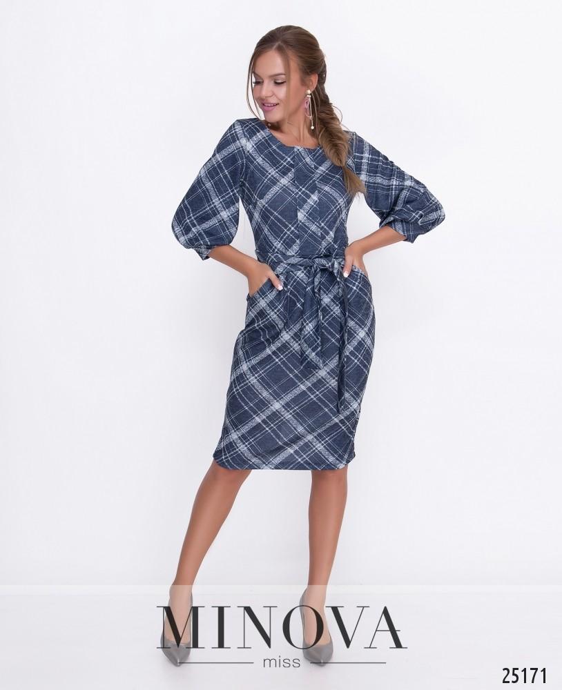 Платье №457-синий
