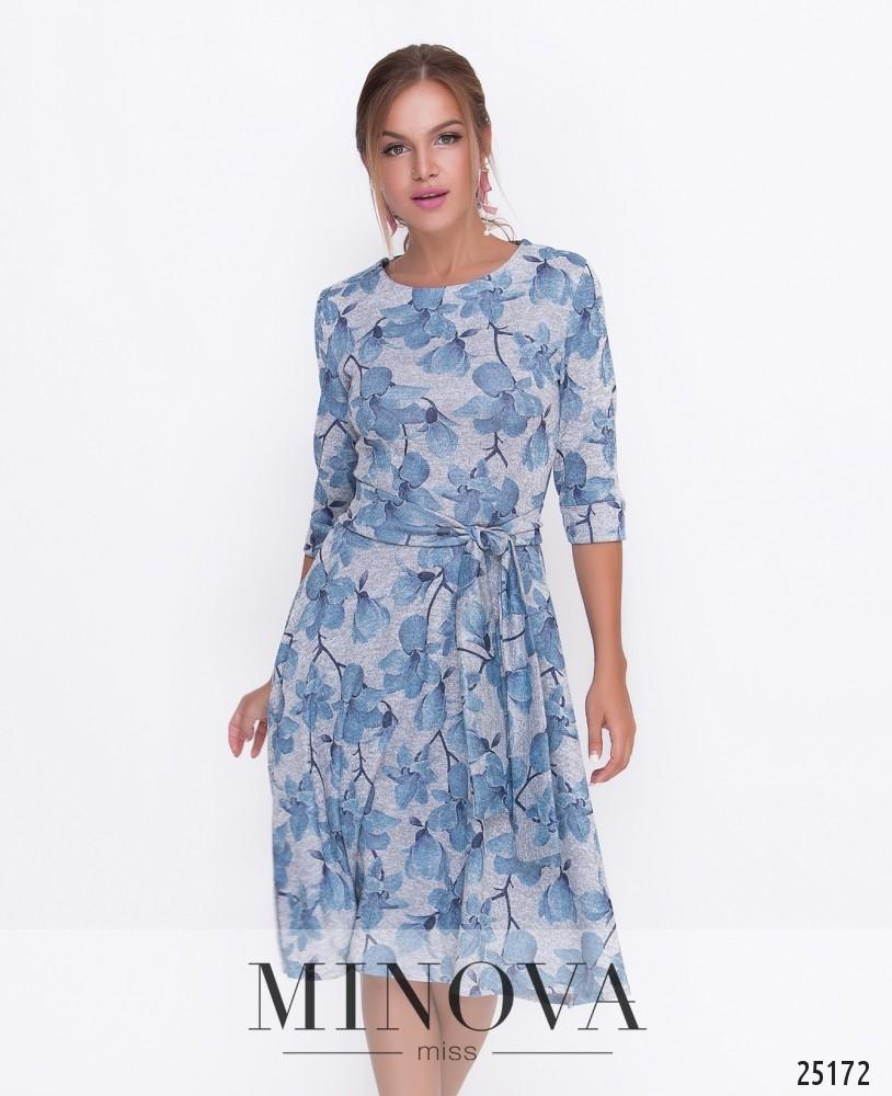 Платье №455-серый