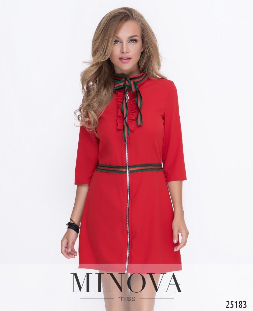 Платье №211-1-красный