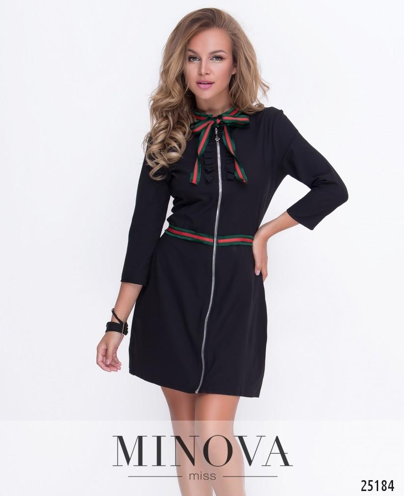 Платье №211-1-черный