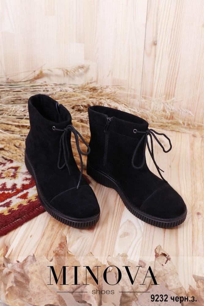 Ботинки ЦГ№9232-черный замш