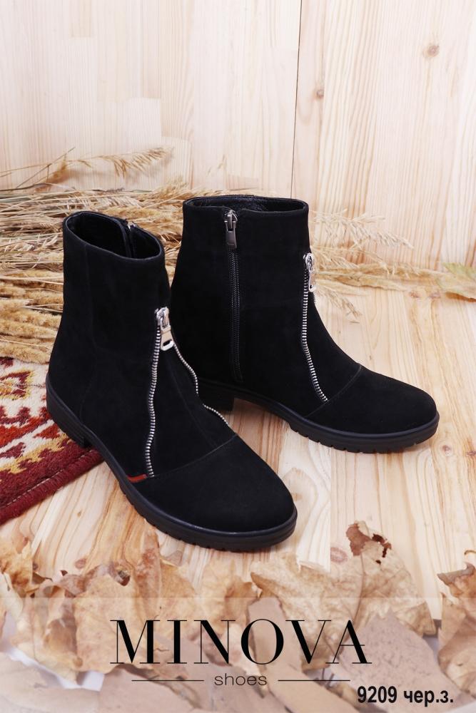 Ботинки ЦГ№9209-черный замш