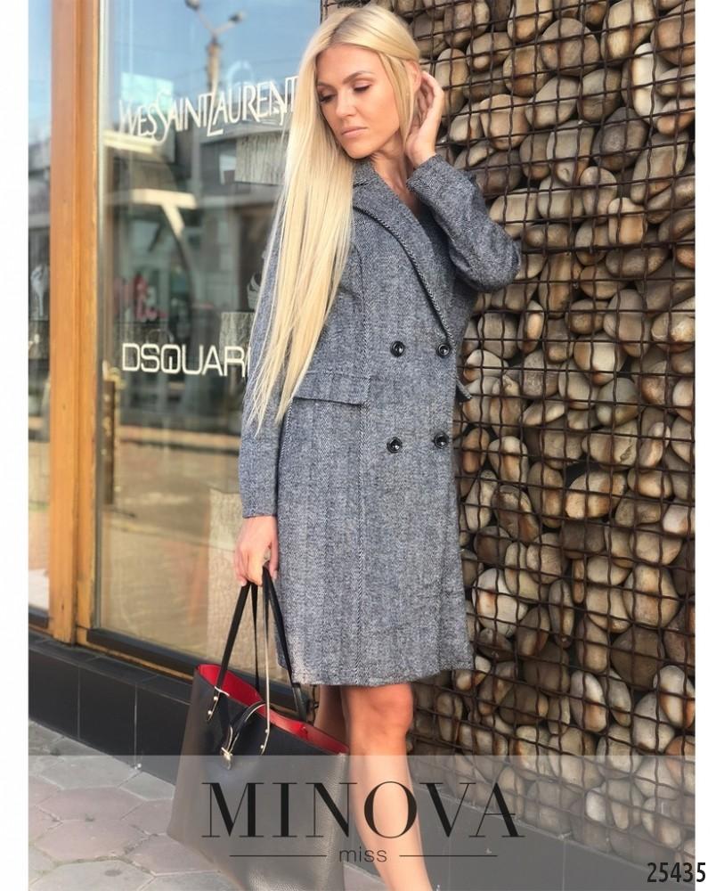 Пальто №1223-серый