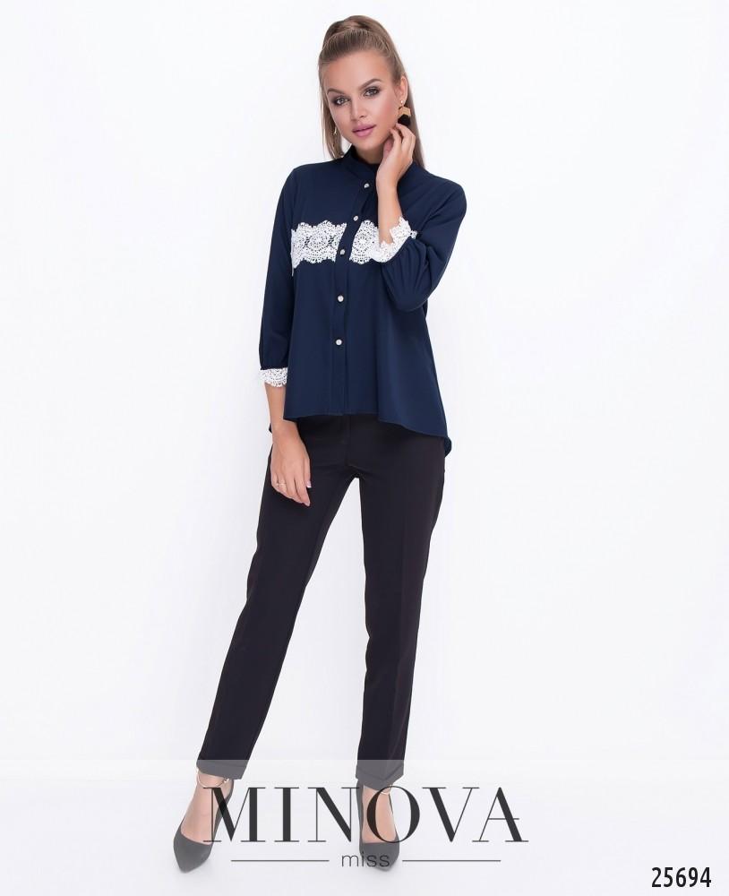 Блуза №070н-синий