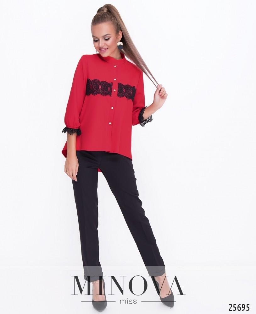 Блуза №070н-красный