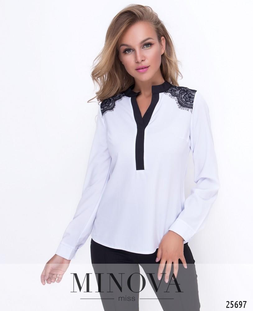 Блуза №1113-белый