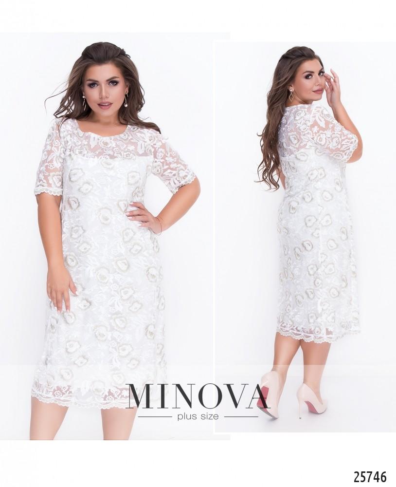 Платье №18-32-молочный (sale)