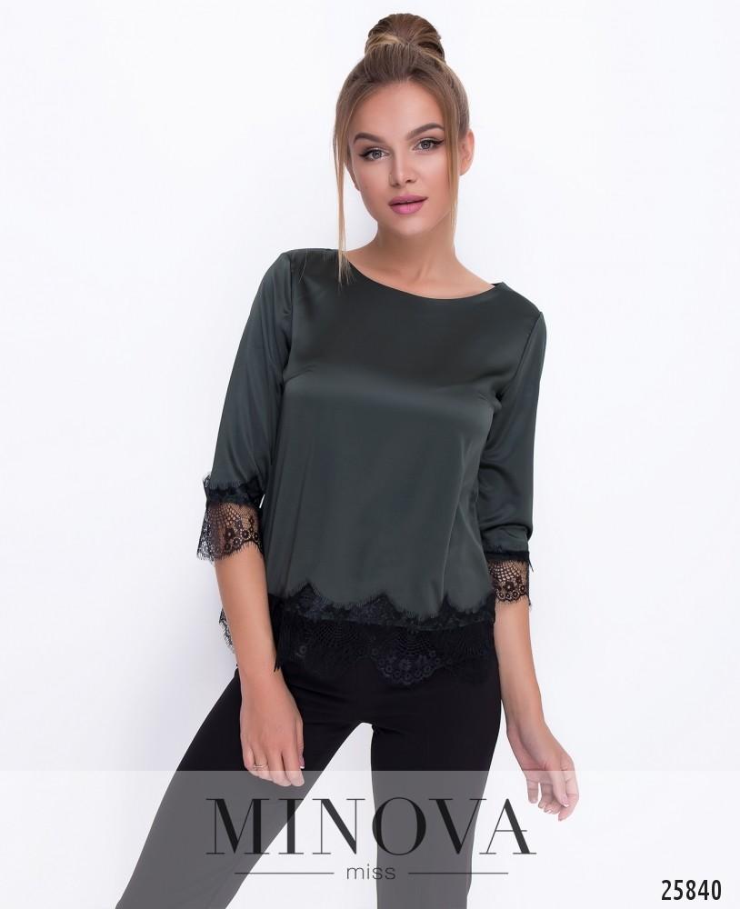 Блуза №1056-хаки