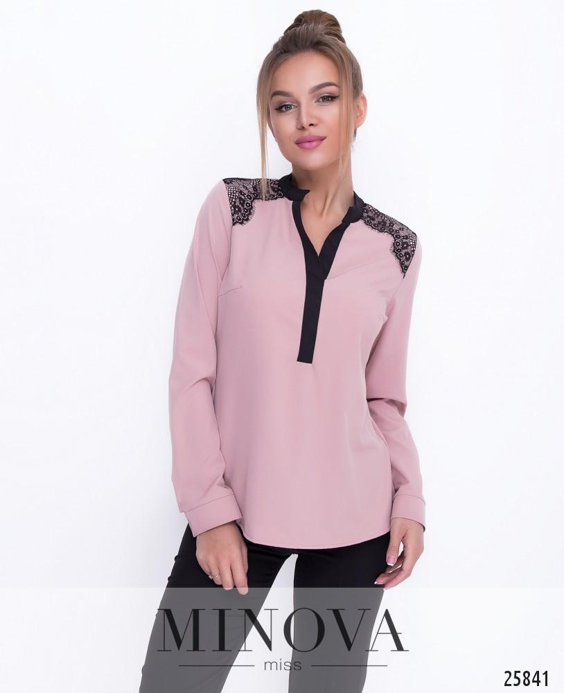 Блуза №1113-пудра
