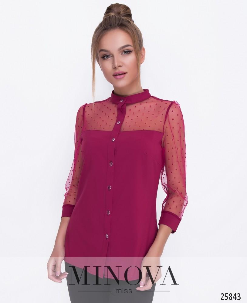 Блуза №1095-марсала