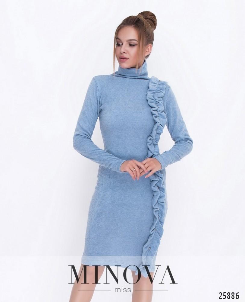 Платье №5049.18-голубой