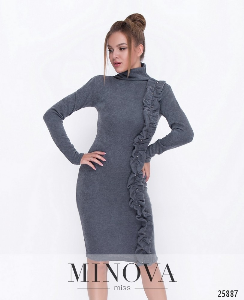 Платье №5049.18-серый