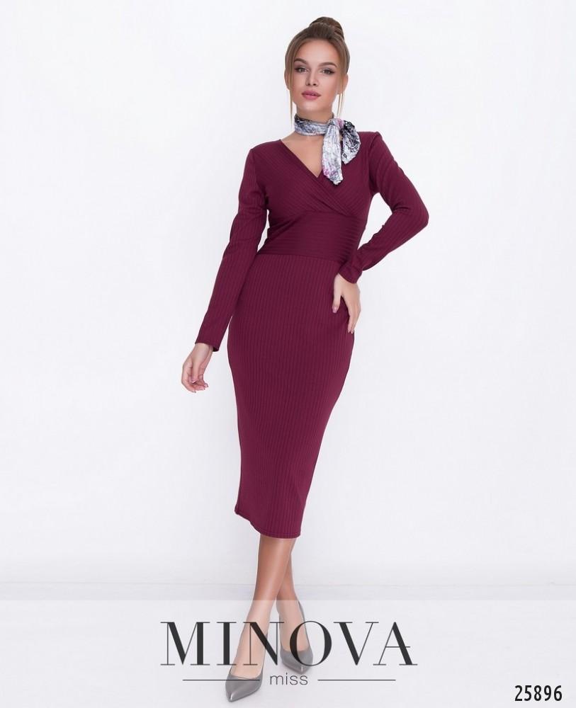 Платье №1117-марсала