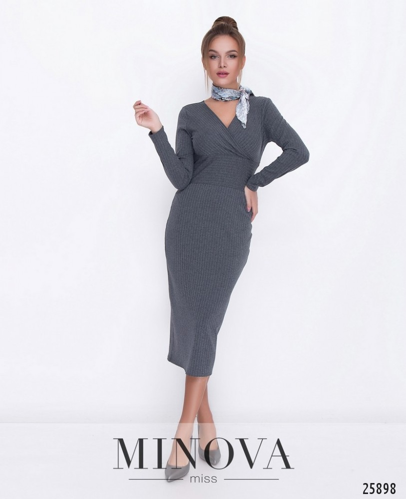 Платье №1117-серый