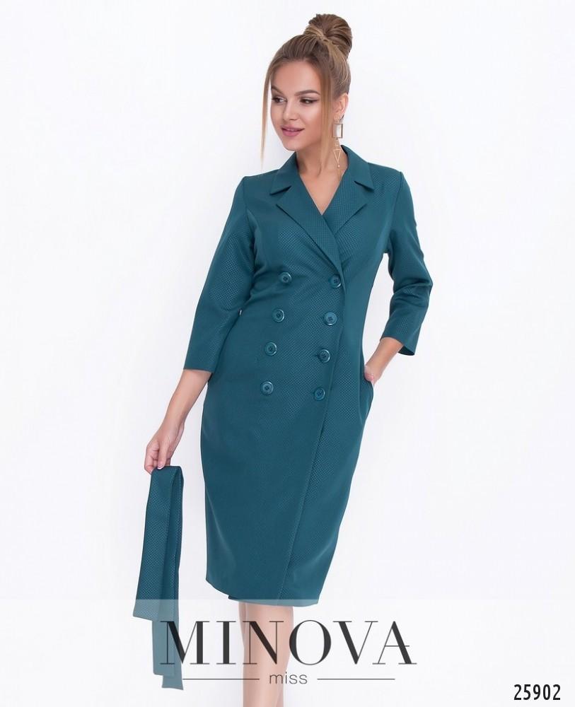 Платье №1116-темно-зеленый