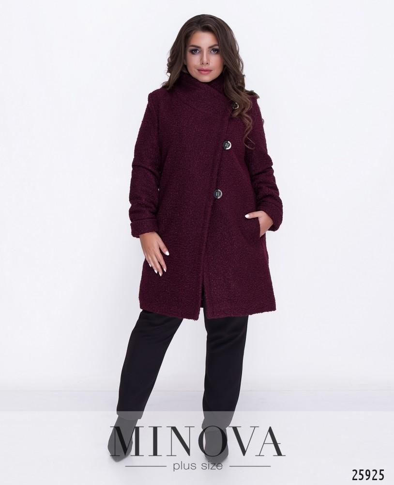 Пальто №710-бордо
