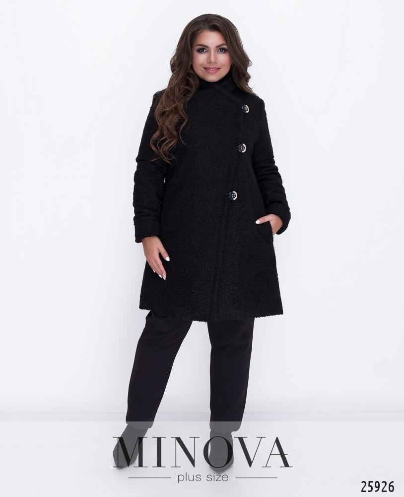 Пальто №710-черный