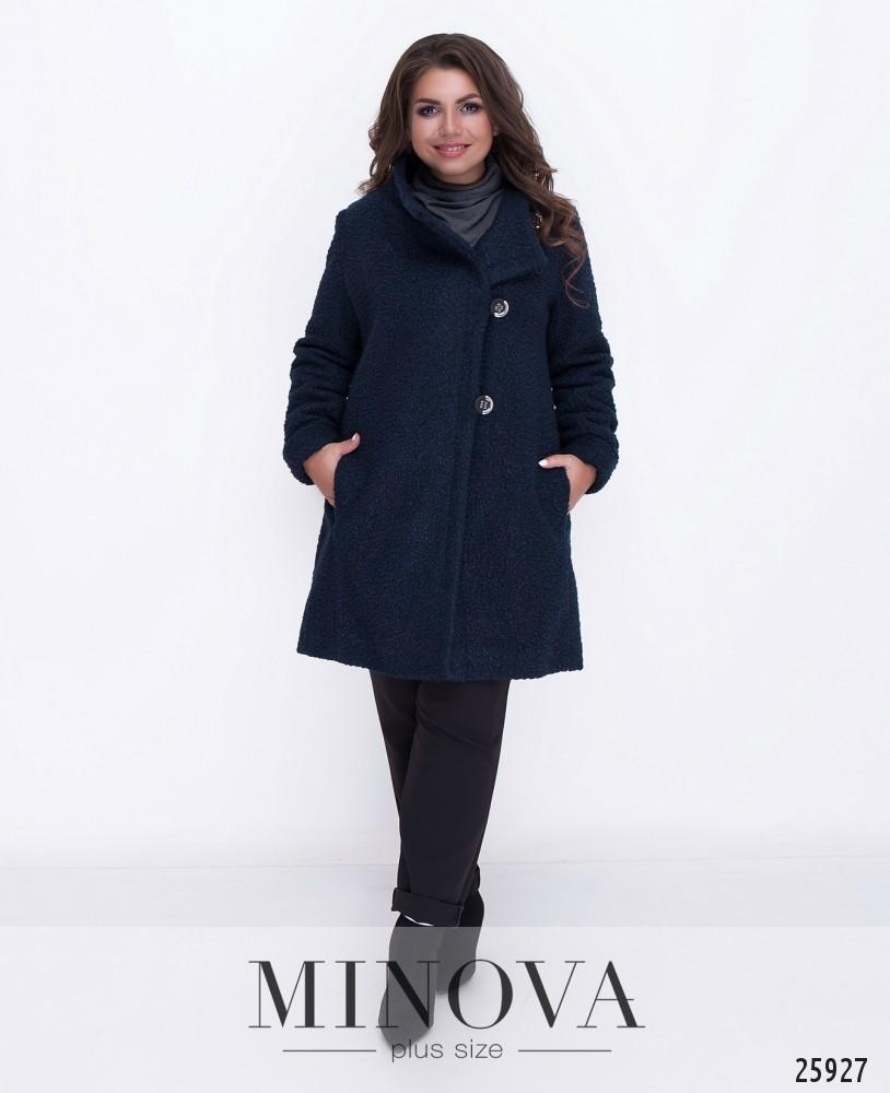Пальто №710-синий