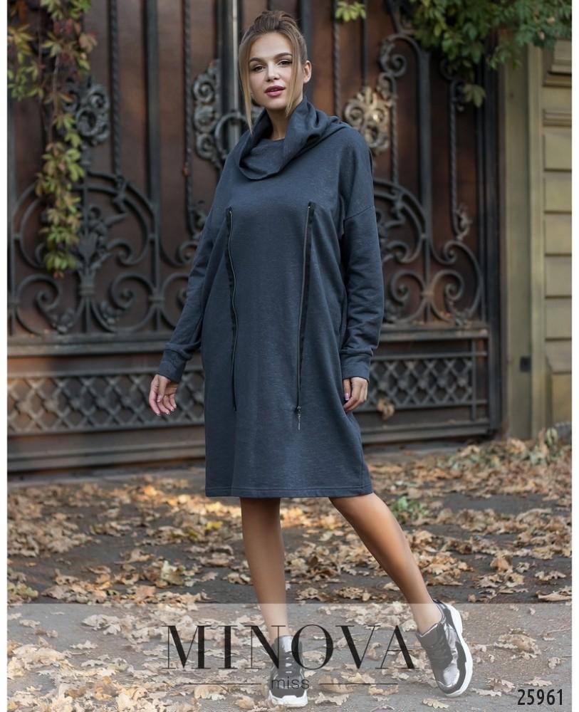 Платье №5030.20-серый