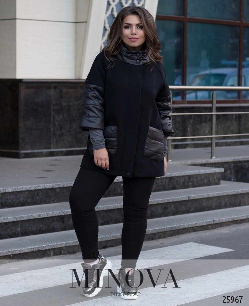 Пальто №709-черный