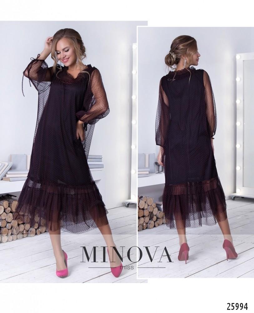 Платье №211-2-черно-красный (sale)