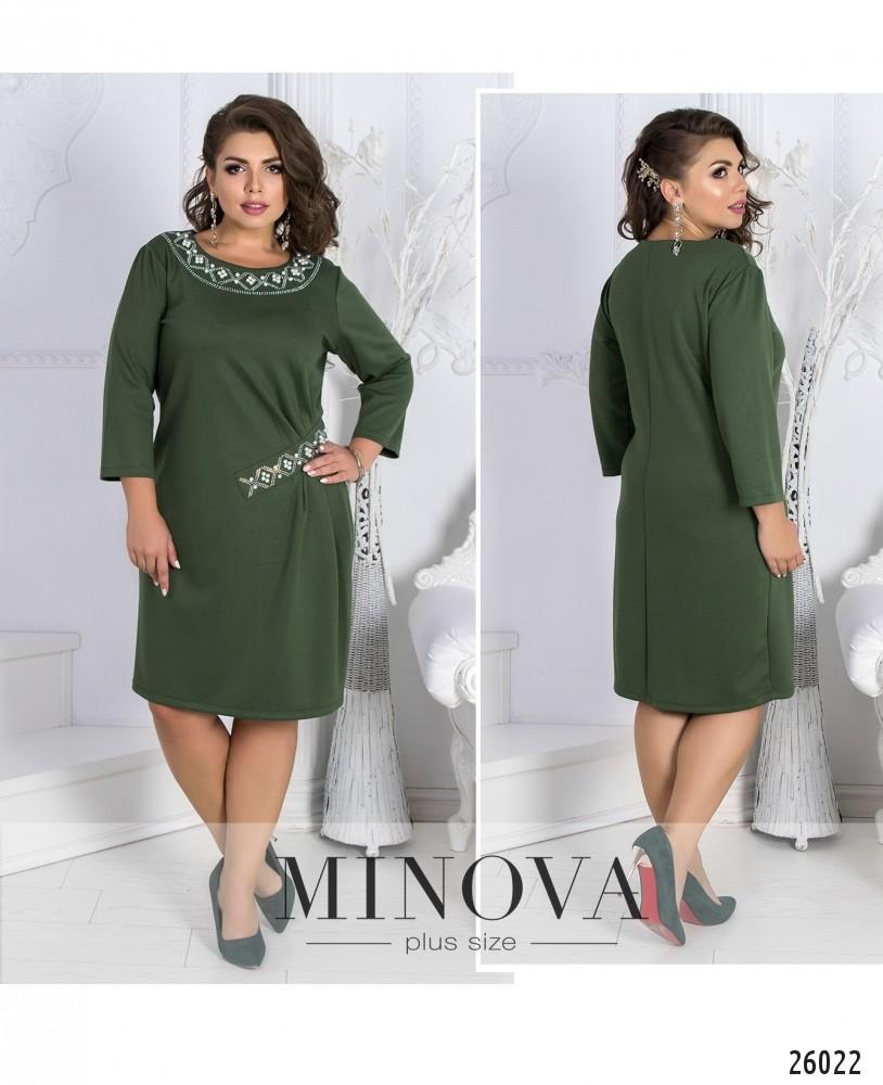 Платье №590-хаки (sale)