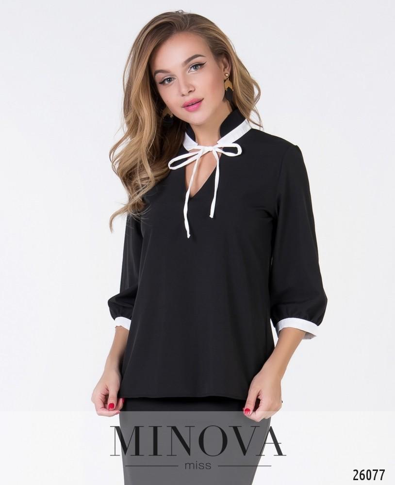 Блуза №1049-1-черный