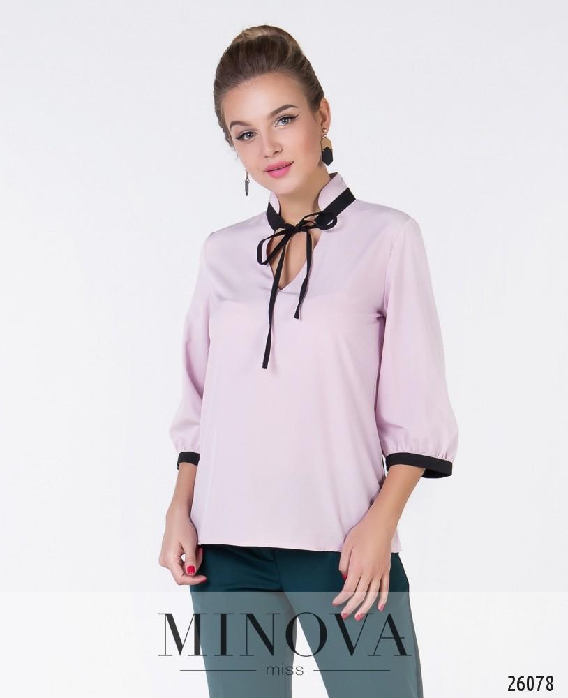 Блуза №1049-1-пудра