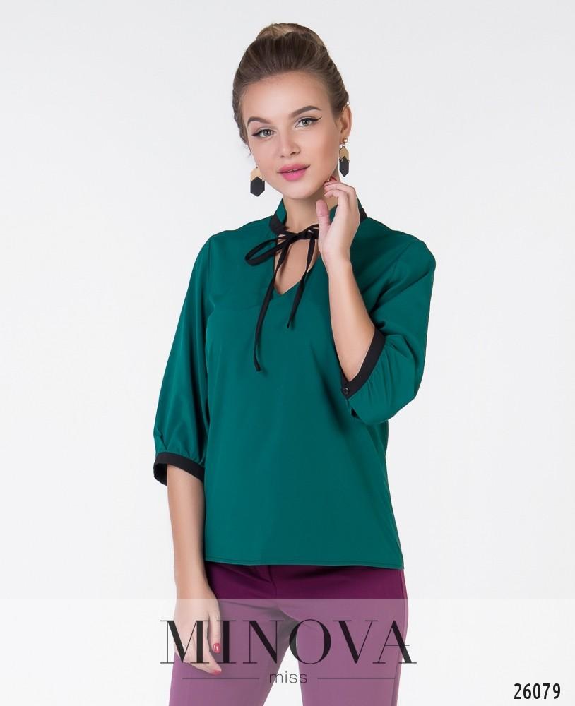 Блуза №1049-1-темно-зеленый