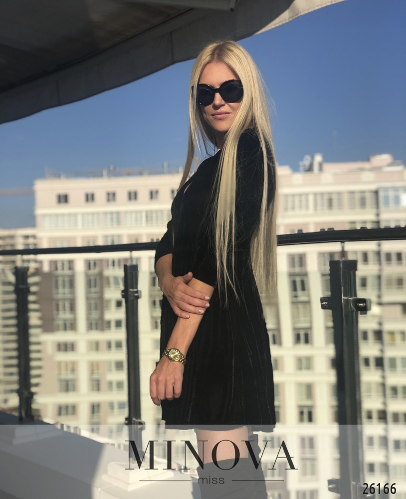 Платье №1236-черный (sale)