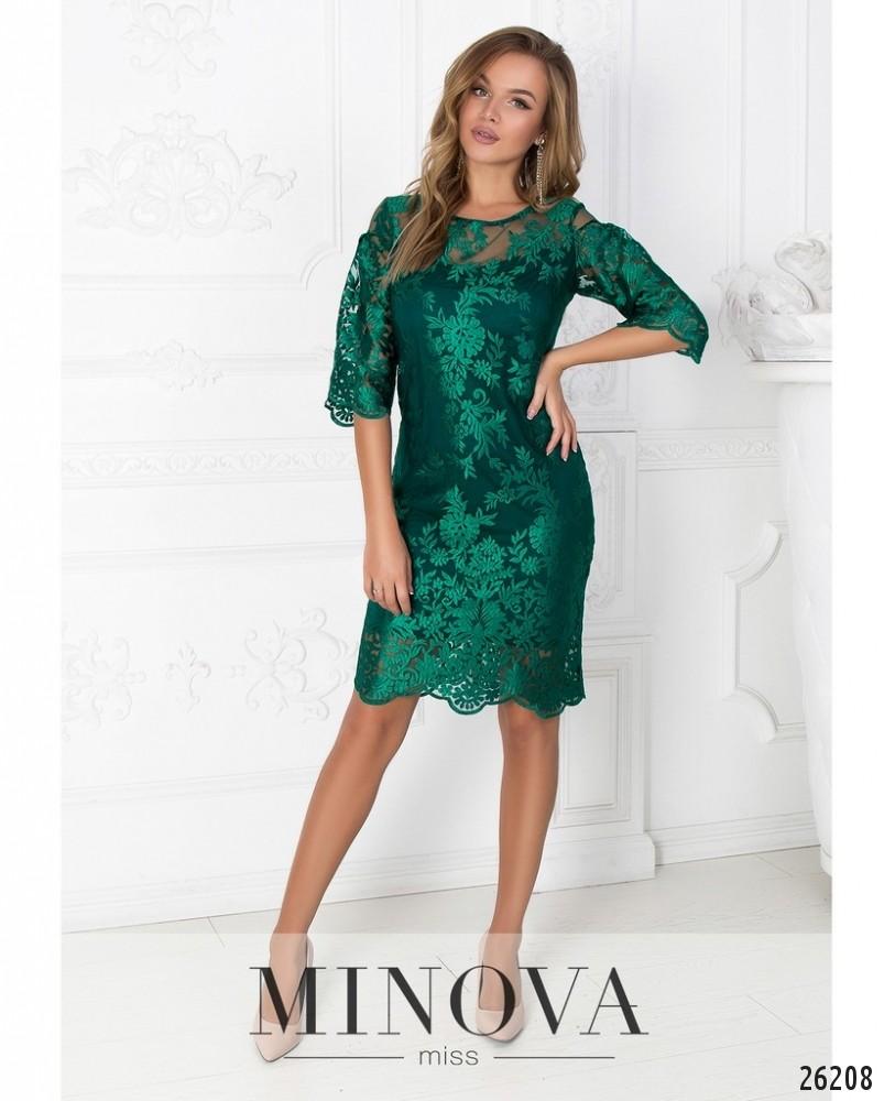 Платье №450-зеленый